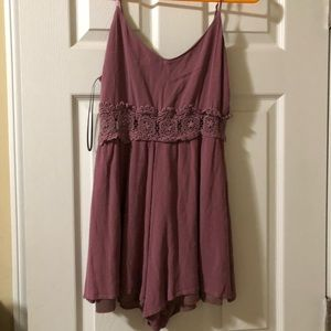 Pink/ Purple cut out laced romper